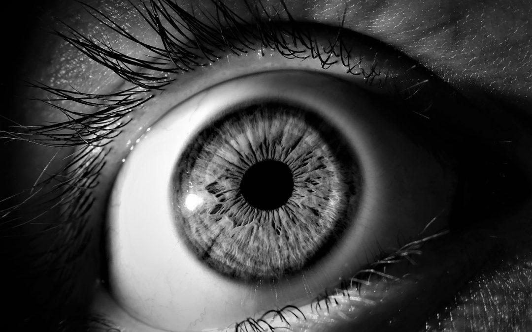 Foto Auge schwarz/weiß